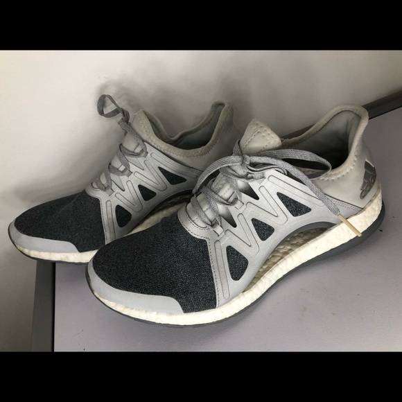 Adidas Pure Boost X in grey and white